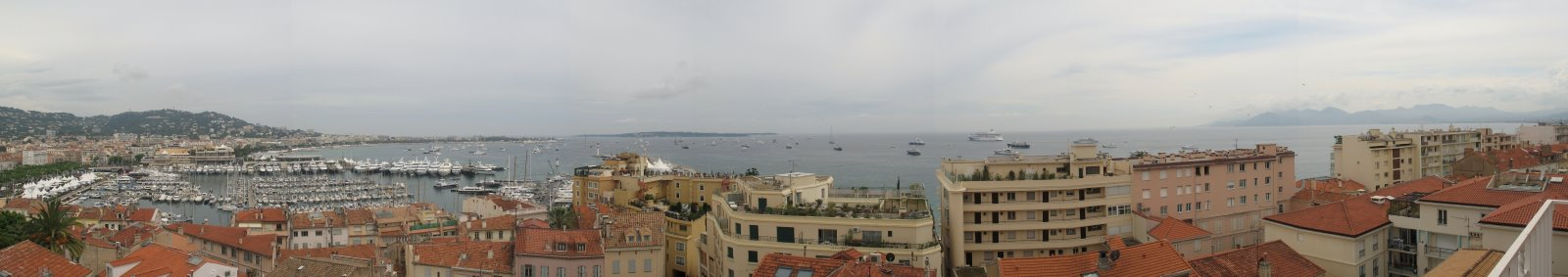 Panoramique du quartier du Suqet, Cannes